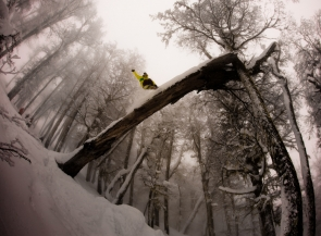 John Lyke, On tour with Rhythm Snowboards in Argentina shooting with Aaron Blatt