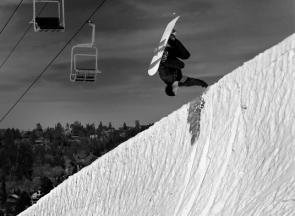John Lyke, Snowboard, Bear Mountain CA action