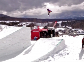 John Lyke, Best trick at snowboard competition in Stowe VT