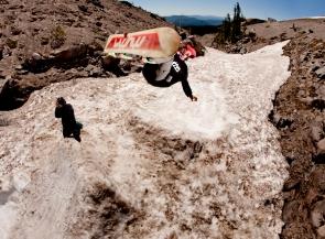 John Lyke, Rhythm Snowboards shoot in Mt Hood Oregon with Aaron Blatt