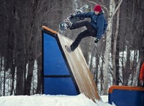 John Lyke, Snowboard, Sugarbush VT shoot with Drew Amato for Transworld Snowboarding
